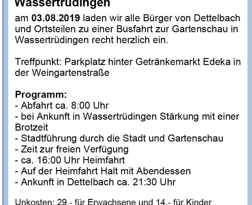 Fahrt zur bayerischen Landesgartenschau Wassertrüdingen