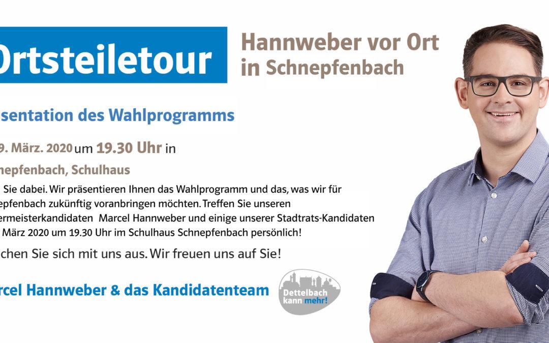 Hannweber vor Ort: Ortsteiletour in Schnepfenbach