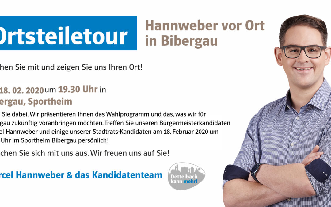 Hannweber vor Ort: Ortseiletour in Bibergau