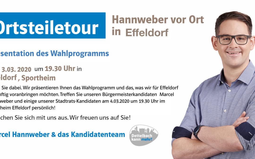 Hannweber vor Ort: Ortsteiletour in Effeldorf