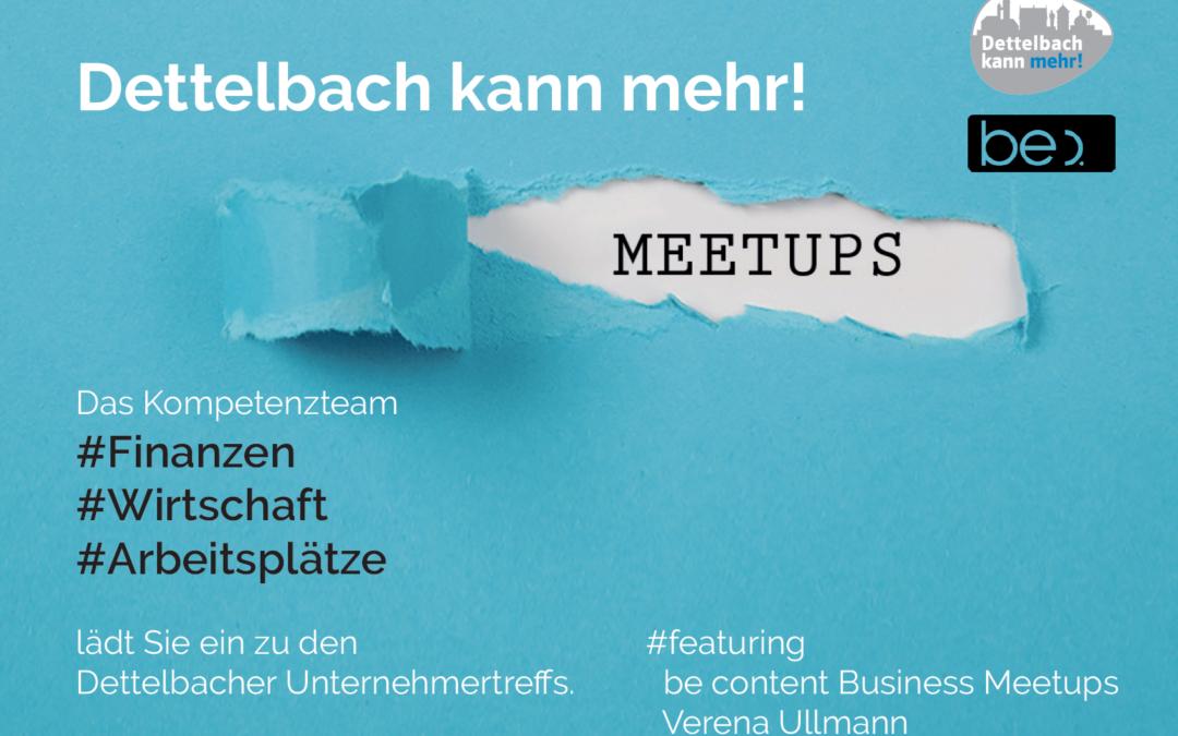 Auftaktveranstaltung Business Treffs be content Meetups am 9. Januar 2020