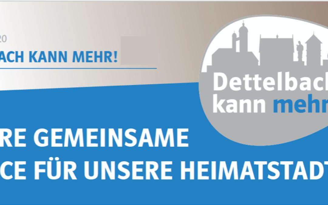 "Präsentation ""Dettelbach kann mehr!""-Programm am 15. Februar 2020 im Historischen Rathaus Dettelbach"