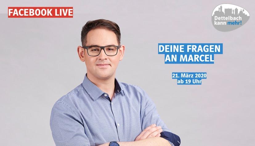 Facebook-Live: Deine Fragen an Marcel  Bürgermeisterkandidat für Dettelbach und alle Ortsteile