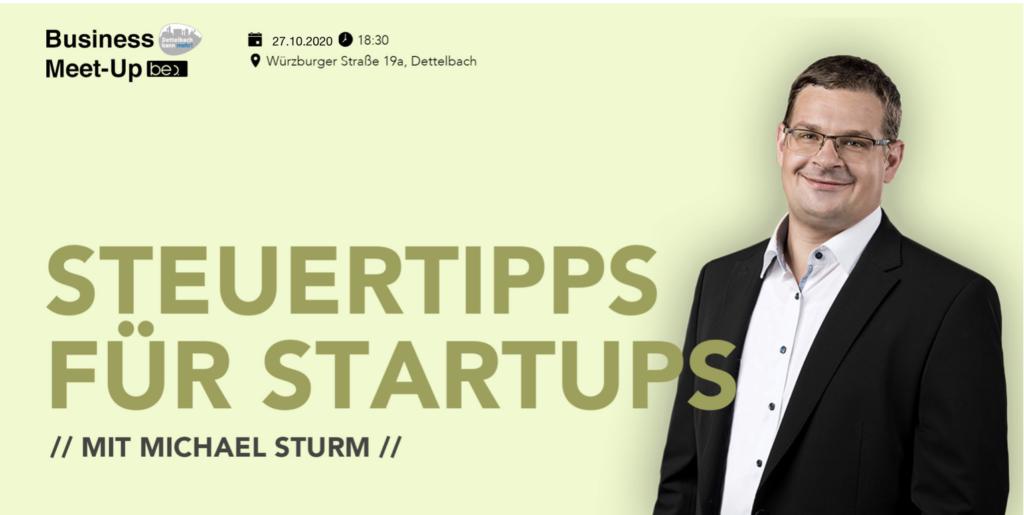 Dettelbacher Unternehmertreff Steuern mit be content Michael Sturm